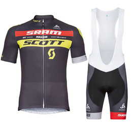 Wholesale scott bike clothing - 2017 scott Cycling jerseys mtb bike clothes cycling clothing bicycle jersey sport outdoor summer cycling jersey bib shorts Gel pad