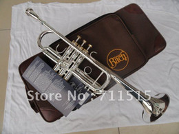 Wholesale Bach C Trumpet - wholesale Bach Silver Plated Tone C the Small Trumpet Bach C180SML239 Instruments Bb Trumpet Professional Music Instrument Trompeta