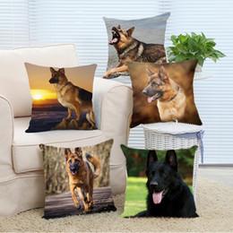 Wholesale Hospital Setting - Wholesale- Pillow Case Customized German Shepherd Dog at Sunset Cool Gift Throw Square Pillowcase Personalize Bedding Set Pillow Slips Zip