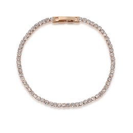 Wholesale Rhinestone Crystal Tennis Bracelet - Simple Style Crystal Bracelet Inlaid CZ Simulated Diamond Bracelet Wholesale Bling Chain Bracelet Tennis Jewelry 2060021310