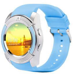 Wholesale V8 Price - V8 Smart Watch Wholesale prices Bluetooth Watches Android with 0.3M Camera Smartwatch for android phone with Retail Package free DHL