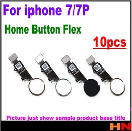 Wholesale Iphone Home Button Ribbon - 10pcs For iPhone 7 7P Plus Home Button Flex Ribbon Cable Assembly color Replacement Parts Assembly without Touch ID