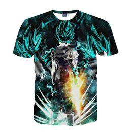 Wholesale Monkey Top - Dragon Ball Z Son Goku Men Summer T-shirt Super Saiyan Monkey King Kakarotto Short Sleeve T shirts Fashion Tops Tees Plus Size