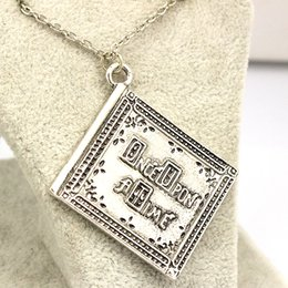Wholesale Book Links - Wholesale-3D henry book Necklace once upon a time book Pendant fashion jewelry