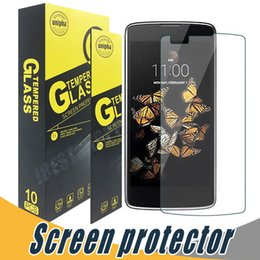 Wholesale Lg Optimus Glass - Tempered Glass Screen Protector Anti Scratch 9H 2.5D Screen Protector Film For LG V20 K3 K4 K8 K10 2017 V10 Gx2 L80 LS660 Optimus F6