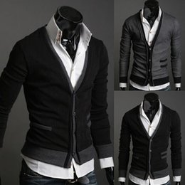 Wholesale Gray Cardigan Sweater Men - 2017 New autumn Mens sweaters male V neck winter men coat jumpers Casual Sweater brand cardigan masculino pocket jersey outerwear