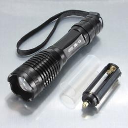 UK super bright led camping lantern - E7 torch CREE XM-L2 4500LM lumens l2 LED Flashlight Zoomable led torch l2 lantern Super Bright Waterproof powerful l2 flashlight