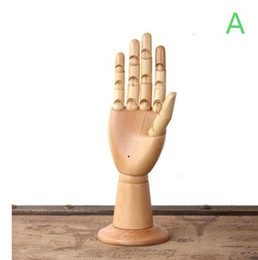 Wholesale Mannequin Hand Display - Freeshipping! fashion 8 colour Wooden hand joint model window display, bracelet jewelry ring glasses technology hand mannequin 1pc B538