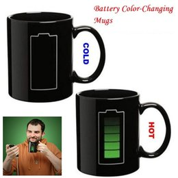 Wholesale Temperature Cup Battery - Battery Color-Changing Mugs Magic Cup Ceramic Temperature Induction Mugs Change Colour Coffee Cups Creative Ceramic Mugs MK105