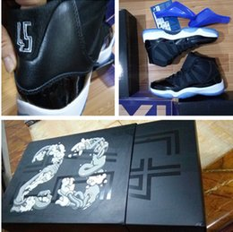 "Wholesale Basketball Number 23 - With Box Number ""45"" ""23"" Retro 11S Space Jam wholesale unisex Basketball Shoes Top quality Athletic Sport Sneakers Size 36-47 free ship"