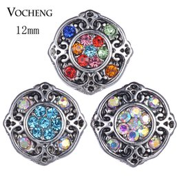 Wholesale Smallest Charms - Vocheng Snap Jewelry Accessory Small Noosa Chunks Petite Ginger Snaps 12mm 3 Colors Snap Charms Vn-1826
