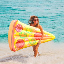 Wholesale Wholesale Adult Floats - 180*150*18CM Inflatable Pool Float Giant Inflatable Pizza Slice Swimming Raft Pool Toys For Adults Amazing Gifts Drop Shipping