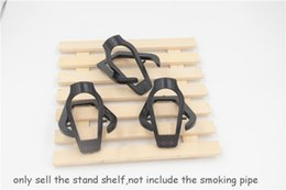 Wholesale Pipe Racks - 20pcs lot free shipping to USA Meerschaum Smoking Pipe Foldable Plastic Stand Holder display stand shelf Tobacco Cigar Pipe stand shelf rack