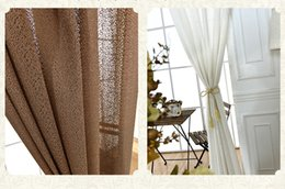 Wholesale Brown Sheer Curtains - High-grade Pure Soild Color Tulle Curtains Simple Modern Sheer Curtains For Living Room Bedroom white brown