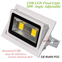 Wholesale High Lumen Led Indoor - 20W Rotating LED Flood Lights High Lumen Intergrated COB Flood Lamp for Indoor Lighting AC110V 220V