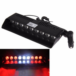 Wholesale Suction Plug - Emergency Strobe Light Auto Car Truck Windshield 14 Mode 9W 9 LED Warning Flash Lamp with 4 Suction Cups Cigarette Adaptor Plug