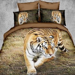 Wholesale Purple Animal Print Bedding - The new 3D special offer animal bedding bedroom blanket bedspread pillowcase four piece