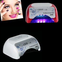 Wholesale High Power Uv Nail Lamp - High Power 48w Led Nail Art lamp CCFL+LED UV Gel Light Nail Dryers Curing machinne for salon personal use