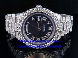Wholesale President Ii - Factory wholesale high quality watches Mens 2 II 18k 41MM President 218239 White Gold Diamond Watch*007--063