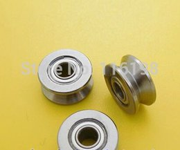 Wholesale Steel Bearing Pulleys - Wholesale- 10pcs V624ZZ V624Z V624 624 V groove deep groove ball bearing 4x13x6mm embroidery machine pulley bearing 624V carbon steel 624VV