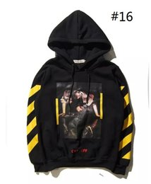 Wholesale Ff Pink - 2017O FF WHITE C O Hoodies Men Women Brand Clothing Religious Outerwear Coats Hip Hop Skateboard PALACE VLONE Male Hooded Sweatshirts