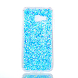 scheibe fall Rabatt Mode flash slice telefon case für samsung galaxy a720 a7 2017 abdeckung acryl weiche tpu silikon handy case für samsung a7 2017