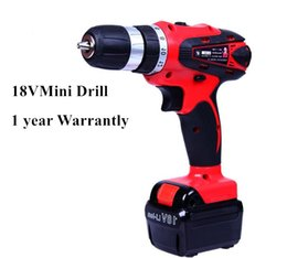 Wholesale 18v Lithium Cordless Drill - 18V DC New Design Two-speed selection Lithium Battery Cordless Drill Power Tools Mini Drill Electric Drill with 1 year warrantly 20170107#