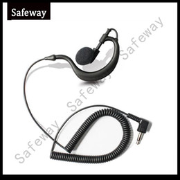 Wholesale Baofeng Plug - 3.5mm plug G type Listen only earpiece receive only earphone for baofeng walkie talkie two way radio speaker microphone