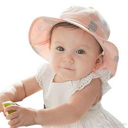 Sweet Children Sun Cap Polka Dot Summer Outdoor Baby Girl Beach Bucket Hat 4b178665e7c3
