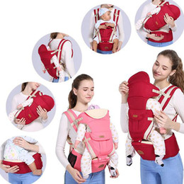 Wholesale Pink Baby Carriers - wholesale Newborn Carrier Backpack Slings Toddler Suspenders Breathable baby sling Multifunctional baby stool triple free shipping