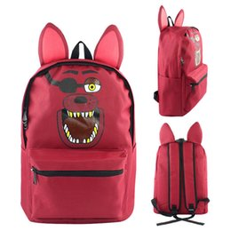 Wholesale Night Backpack - Five Nights At Freddy's Freddy Foxy Backpack Travel Satchel School Shoulder Bag