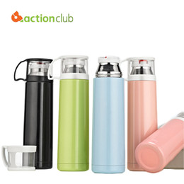 Wholesale Office Vacuum Mug - Wholesale- Actionclub Bottle Brushed Stainless Steel Vacuum Mug Flask Simple Style Business Office Cup Child Sports Car Thermos Cup HH656