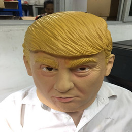 Máscara de Látex presidencial Donald Trump Látex máscara facial máscara de festa de Halloween cheio de dia cosplay de Fornecedores de óculos linhas amarelas