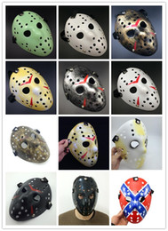 Wholesale Adult Full Films - Archaistic Jason Mask Full Face Antique Killer Mask Jason vs Friday The 13th Prop Horror Hockey Halloween Costume Cosplay Mask