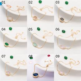 Wholesale Colored Resin Bracelets Wholesale - 30pcs lot mixed order Fashion Jewelry Gold-tone Chain Bracelets Resin Colored Stone Charm Bracelets for women