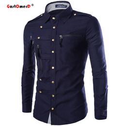 Wholesale Designer Style Long Sleeve Dresses - Wholesale- Spring 2016 New Men Cotton Shirts College Style Dress Shirt For Men Fashion Slim Fit Mens Long Sleeve Shirts Designer Clothes