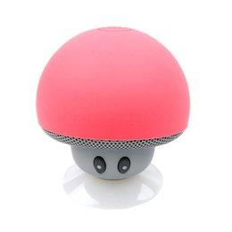 mini mp3 music player Promo Codes - Wholesale- Portable Wireless Bluetooth Speaker Mini Mushroom Waterproof Stereo Speaker Music Player for Xiaomi iPhone for Android IOS PC