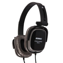 Wholesale Somic Microphone - Original Somic MH513 Wired Headphones 3.5mm Jack Collapsible Headband Headset with Microphone and Voice Control Function