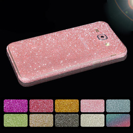 Wholesale gold skin sticker - for Samsung Galaxy A5 2017 Glitter Full Body Sticker Decal Cover for Samsung A3 A5 A7 2017 Bling Diamond Phone Skin