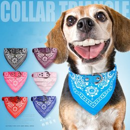 Wholesale Small Bibs - Dog Collars Triangular Towel Cat Bib Small Dogs Teddy Colorful printing Scarf Collar Personality Fashion Neckerchief 3 2md4