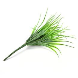 Canada 2016 Nouveau 7-fourche Vert Herbe Plantes Artificielles Pour Les Fleurs En Plastique Magasin Ménager Dest Rustique Décoration En Trèfle Usine En Gros Offre