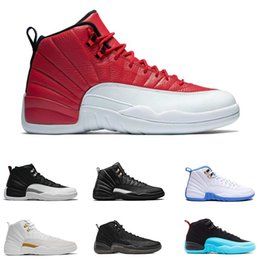 Wholesale Gray Leather Boots Women - 2017 cheap basketball shoes air retro 12 women man TAXI Playoff ovo white Gray Black Gym barons cherry RED Flu Game Sport Sneaker Boots 8-13