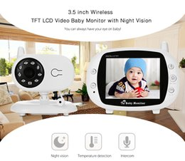 Wholesale Tft Lcd Wireless Night Vision - Fimei 3.5 inch Wireless Night Vision TFT LCD Video Baby Monitor 2-way Audio Infant Baby Camera Digital Video Nanny babysitter +NB