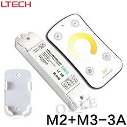 Wholesale Remote Control Temperature Controller - New Led Color Temperature Controller RF Wireless DC12-24V Remote With CV Constant Voltage Receiver Light M2+M3-3A Free Shipping