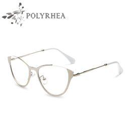 Gato de olho de óculos de marca on-line-Designer de marca Olho de Gato Armações de Óculos Mulheres Vintage Frame Ótico Moda Vidros Ópticos Óculos Vintage Frame Com Caixa E Caso