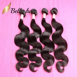 Wholesale Soft Wave Brazilian Hair Weave - Unprocessed Brazilian Human Hair Extensions 4pcs Lot Brazilian Body Wave 100% Human Hair Extensions Soft Hair Bundles Free Shipping