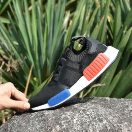 Wholesale Golf R1 - 2017 NMD Runner Shoes NND R1 Monochrome Mesh Primeknit Discount Cheap Discount Women Men Running Shoes Sneakers Sports Shoes With Box