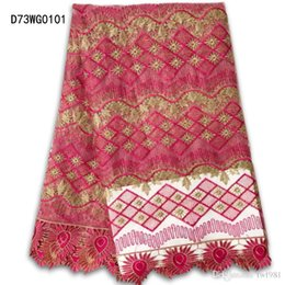 Wholesale Net French Lace - Wholesale Latest High Swiss Lace Materials African Net cord Lace High Quality nigerian French Lace Fabric Latest Free Shipping D73WG01