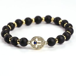 Wholesale Metal Evil Eye Charm Bead - Fashion Jewelry Crafts OM Yoga Jewelry Metal Beads Evil Eye Charm Hamsa Fatima Hand Agate Beads Bracelet JF