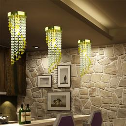 luz de teto pendente cool Desconto LED 1-luz de Ouro Moderna luz lustre de cristal D15 * H41cm AC110V-256V Cor transparente minimalista sala de jantar luzes 5 W